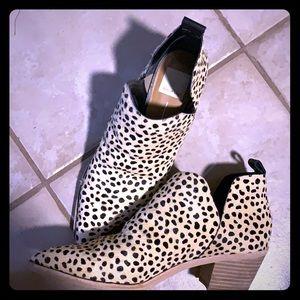 Leopard calf hair booties
